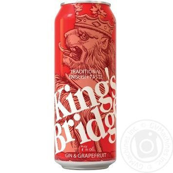 King's Bridge Low-alcohol drink Gin with grapefruit juice 7% 0,45l - buy, prices for Novus - image 1