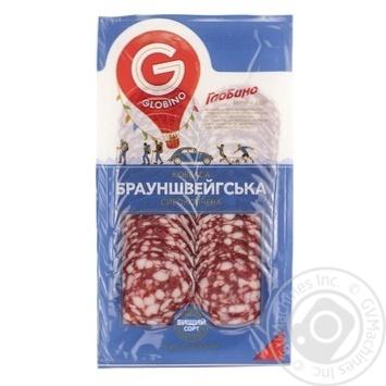 Колбаса Globino Брауншвейгская сырокопченая нарезанная высшего сорта 80г