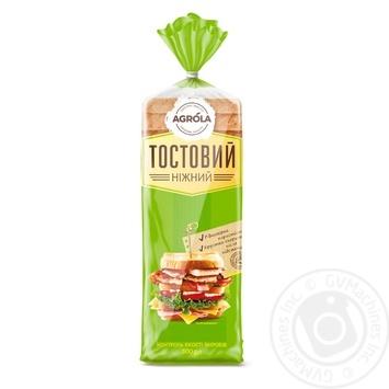 Хліб Agrola тостовий ніжний 500г - купити, ціни на Ашан - фото 1