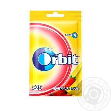 Orbit Strawberry-banana chewing gum 35g - buy, prices for Tavria V - image 1