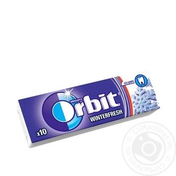Жевательная резинка Wrigley's Orbit Winterfresh без сахара со вкусом ментола 13.6г