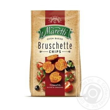 Хлібні брускети Maretti запечені зі смаком помідори оливки орегано 70г - купити, ціни на МегаМаркет - фото 1