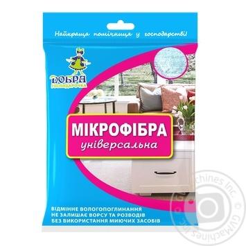 Dobra Gospodarochka Universal Mikrofibra Napkin 1pcs - buy, prices for MegaMarket - image 1