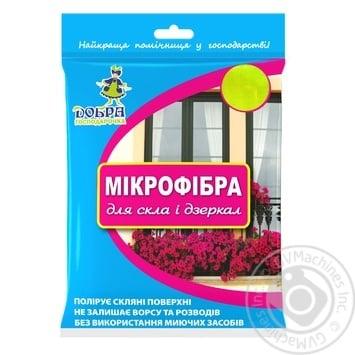Dobra Gospodarochka For Glass Microfibra Napkin 1pcs - buy, prices for Novus - image 1