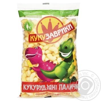 Палички кукурудзяні Кукузаврики солодкі неглазуровані 150г
