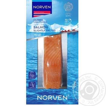Семга Norven слабосоленая филе-кусок 180г