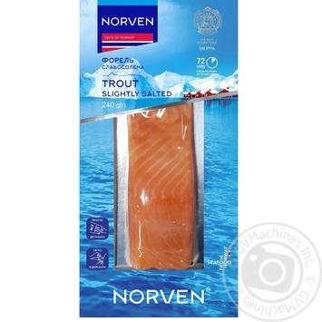 Форель Norven слабосоленая филе-кусок 240г - купить, цены на Восторг - фото 1