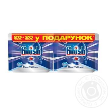 Таблетки для посудомийних машин Finish Quantum Ultimate 20шт. - купити, ціни на Ашан - фото 2