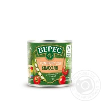 Фасоль Верес в томатном соусе 400г - купить, цены на Novus - фото 1