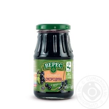 Черная смородина Верес измельченная с сахаром 350г - купить, цены на Novus - фото 1