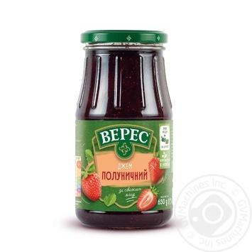 Джем Верес Полуничний 650г - купити, ціни на МегаМаркет - фото 1