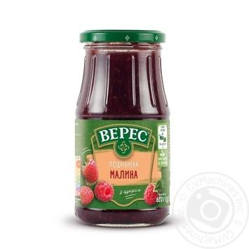 Малина Верес подрібнена з цукром 620г - купити, ціни на МегаМаркет - фото 1