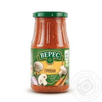 Ікра Верес овочева з грибами 500г - купити, ціни на МегаМаркет - фото 1
