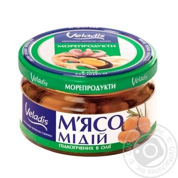 М'ясо Мідій підкопчених в олії Veladis 200г - купити, ціни на Novus - фото 1