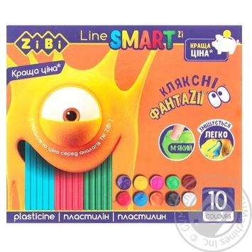 Пластилин ZiBi Smart Line 10 цветов 200г - купить, цены на СитиМаркет - фото 1