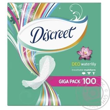 Прокладки ежедневные Discreet Water Lily Deo мультиформ 100шт
