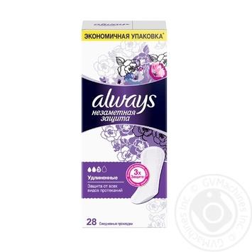 Прокладки ежедневные Always Незаметная защита Удлиненные Duo ароматизированные 28шт