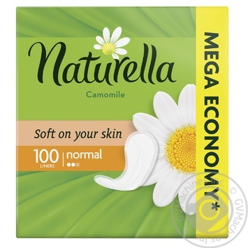 Liners Naturella Camomile Normal 100pcs - buy, prices for MegaMarket - image 1