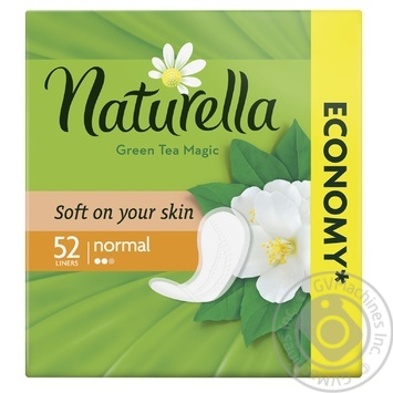 Щоденні прокладки Naturella Green Tea Magic Normal 52шт - купити, ціни на МегаМаркет - фото 1