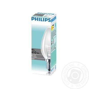 Лампа накаливания Philips Stan 40W E14 230V B35 CL 1CT/10X10F - купить, цены на СитиМаркет - фото 1