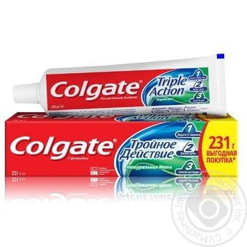 Зубная паста Colgate Тройное Действие Натуральная мята 150мл - купить, цены на МегаМаркет - фото 1