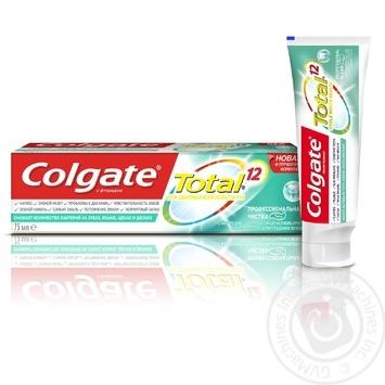 Зубна паста Colgate Total 12 Професійне чищення (гель) комплексна антибактеріальна 75мл - купити, ціни на Фуршет - фото 1
