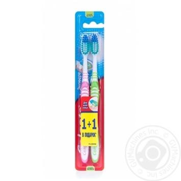Зубна щітка Colgate Експерт чистоти видаляє бактерії середньої жорсткості 1+1шт - купити, ціни на Ашан - фото 1
