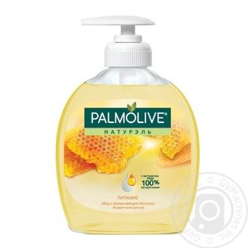Рідке мило Palmolive Naturel Живлення з медом і зволожуючим молочком 300мл - купити, ціни на ЕКО Маркет - фото 1