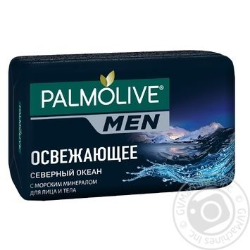 Мило Palmolive Північний Океан туалетне для чоловіків 90г - купити, ціни на Novus - фото 1