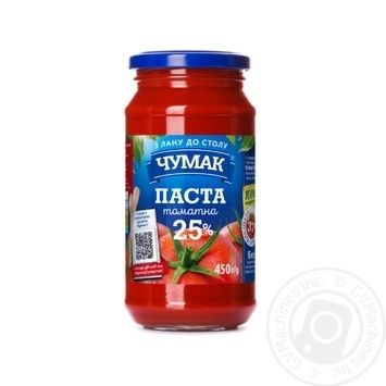Chumak Tomato Paste 25% 450g - buy, prices for Novus - image 1