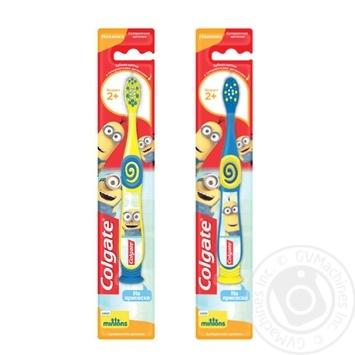 Зубна щітка Colgate Міньйони для дітей 2+ суперм'яка в асортименті - купити, ціни на Фуршет - фото 1
