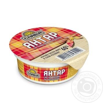 Сыр плавленый пастообразный Янтарь 60% Славия 100г