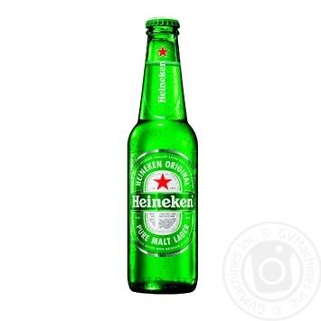 Пиво Heineken светлое фильтрованное пастеризованное 5% 0,33л - купить, цены на Novus - фото 1