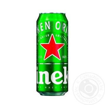 Пиво Heineken светлое фильтрованное пастеризованное 5% 0,5л - купить, цены на МегаМаркет - фото 1