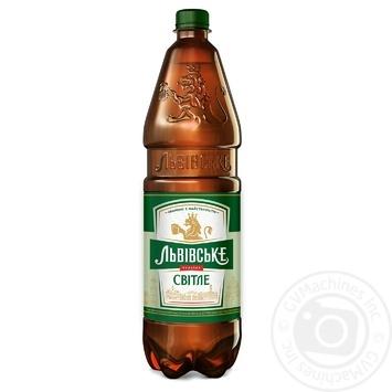 Пиво Львівське світле 4,5% 1,2л - купити, ціни на CітіМаркет - фото 1
