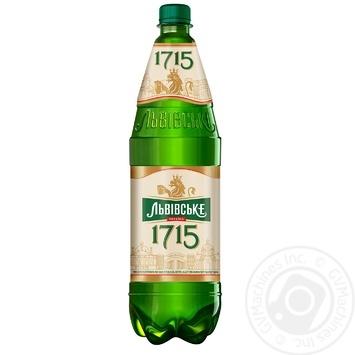 Пиво Львовское 1715 светлое 4,7% 1,15л