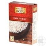 World's Rice Basmati Rice Long-grained in Bags 400g