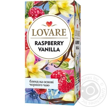 Чай чорний Lovare Таємничий Сад з пелюстками квітів, малиною і ваніллю 24шт 2г - купити, ціни на Novus - фото 1