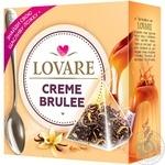 Чай черный Lovare Creme Brulee листовой байховый в пирамидках 15*2г - купить, цены на МегаМаркет - фото 1