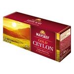 Чай черный Майский Золотой Цейлон в пакетиках 25шт*2г