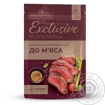Натуральна приправа без солі для м'яса Exclusive Professional PRIPRAVKA 50г - купити, ціни на Метро - фото 1