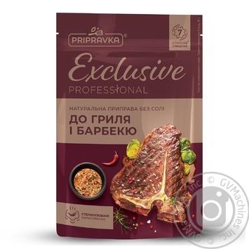 Натуральная приправа без соли для гриля и барбекюExclusive ProfessionalPRIPRAVKA 40г - купить, цены на Novus - фото 1