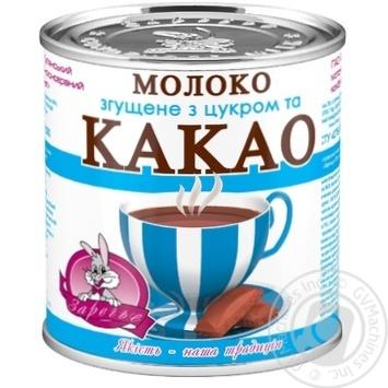 Молоко згущене Заречье з цукром і какао 7.5% 370г - купити, ціни на Novus - фото 1