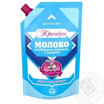 Молоко сгущенное Заречье Премиум цельное с сахаром 8.5% 450г - купить, цены на Novus - фото 1
