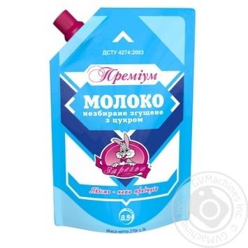 Молоко сгущенное Заречье Премиум цельное с сахаром 8.5% 270г - купить, цены на Novus - фото 1