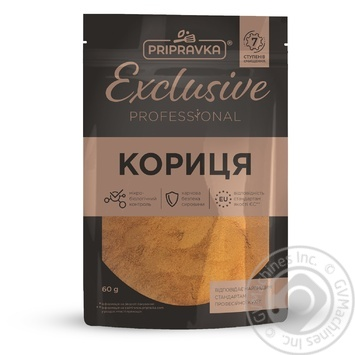 Pripravka Exclusive Professional ground cinnamon 60g - buy, prices for Furshet - image 1