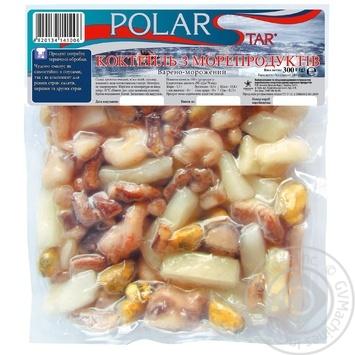 Коктейль с морепродуктов варено-мороженый ТМ Polar Star 400г - купить, цены на Ашан - фото 1
