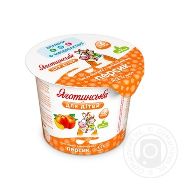 Yagotynske For Children Peach For 6+ Months Babies Cottage Cheese 4.2% 100g - buy, prices for Novus - image 1