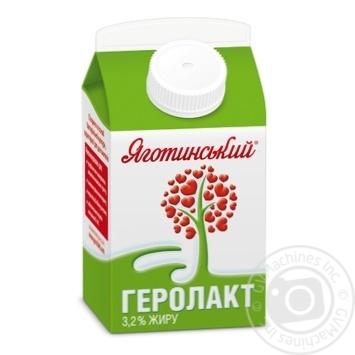 Продукт пищевой кисломолочный Геролакт питьевой 3.2% Яготинский 500г - купить, цены на Novus - фото 1