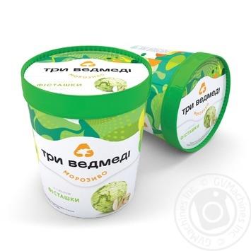 Three Bears Phistachio Ice-Cream 500g Paper Cup